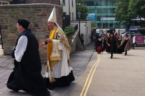 1. Wolf Hall filming Bristol Cathedral Jun14 - image courtesy of Bristol Film Office