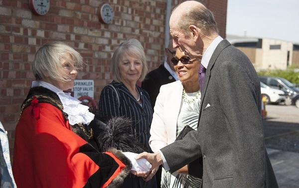 Lord Mayor of Bristol Cllr Lesley Alexander greets HRH