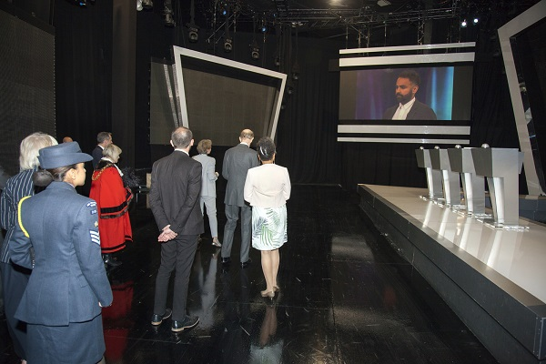 HRH visits the Tipping Point (ITV) set
