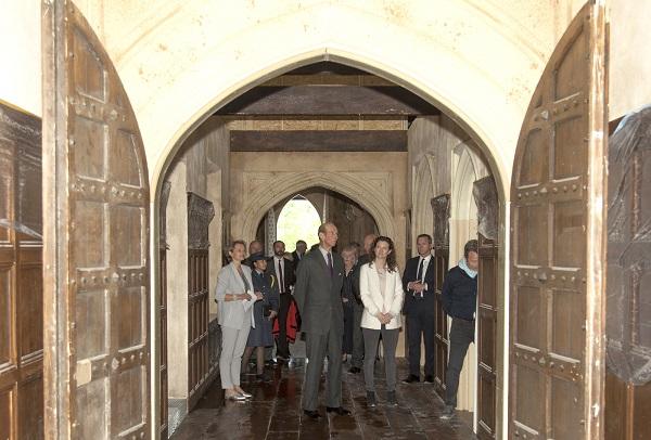 HRH tours the set of The Spanish Princess (STARZ)