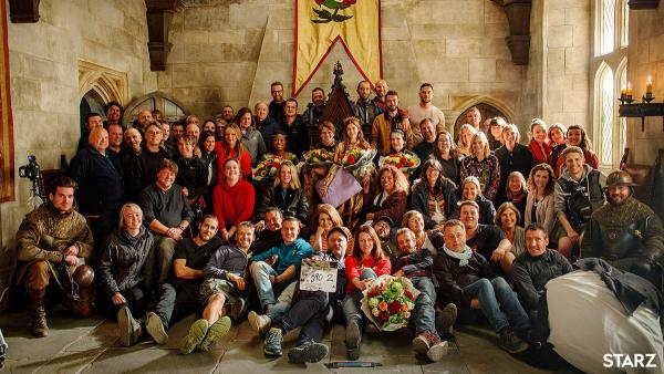 The Spanish Princess cast & crew on set at The Bottle Yard Studios (image credit: STARZ)