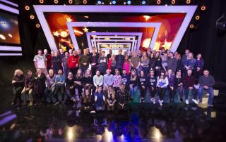 Ben Shephard with Tipping Point's crew (ITV)