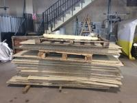 Chipboard floors salvaged from previous series come out of storage