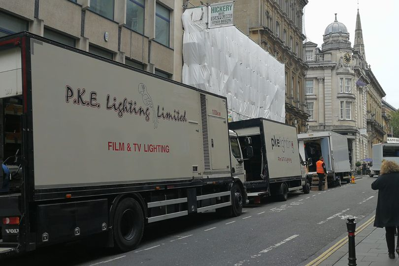 Invisible crews on Corn Street, Bristol (credit Bristol Live / Jon Kent)