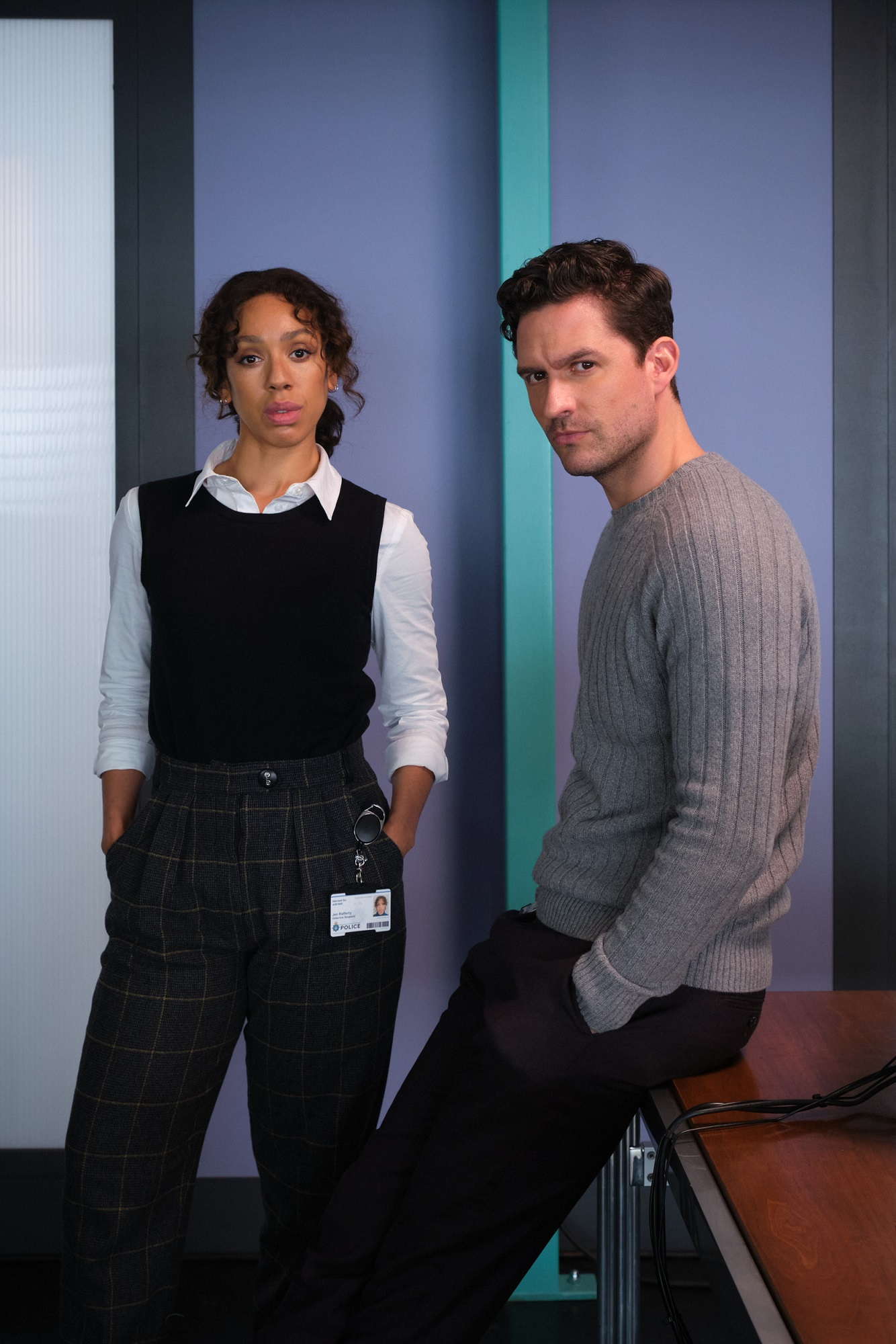 First look - Pearl Mackie & Ben Aldridge in The Long Call - image courtesy ITV
