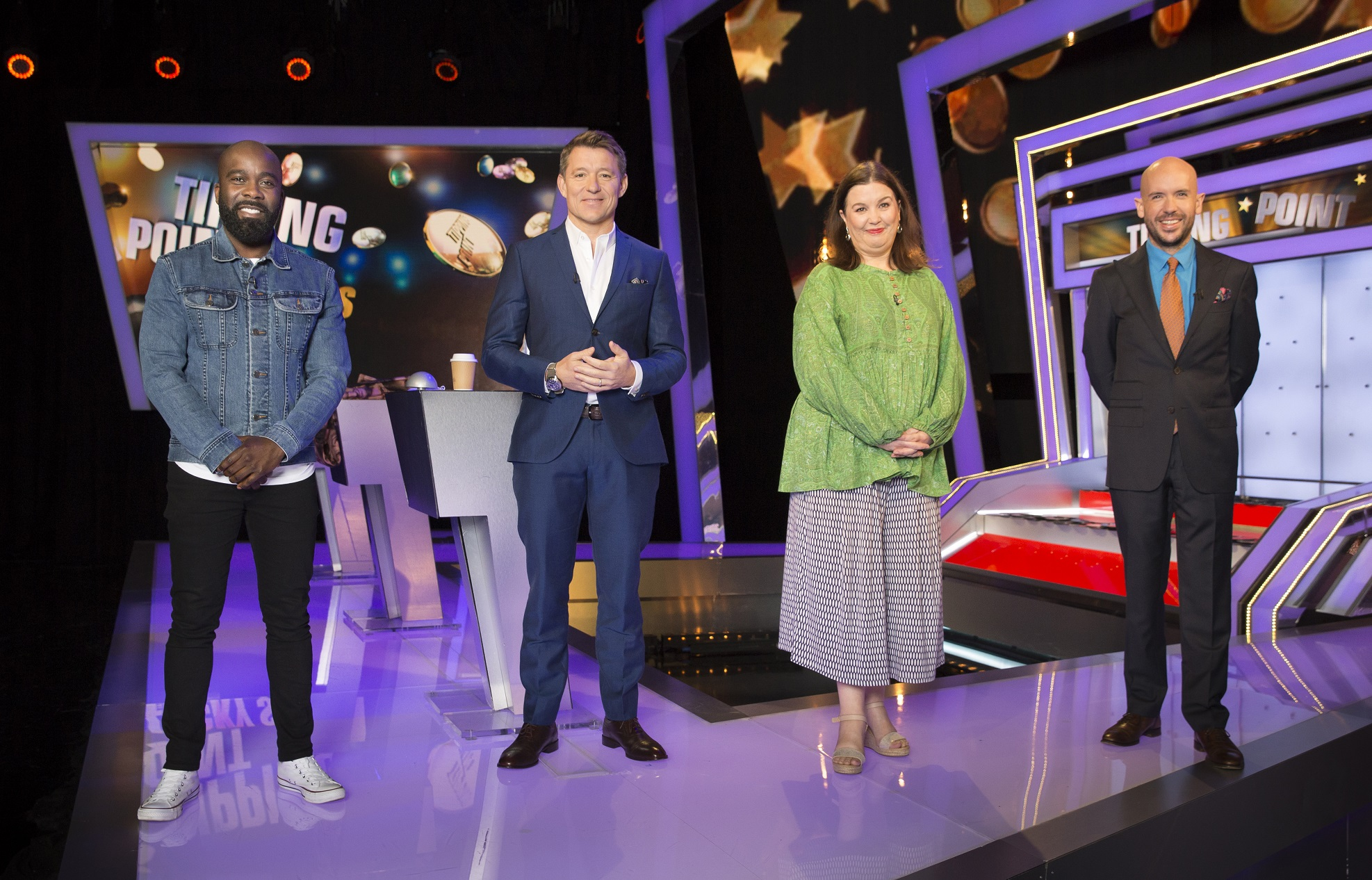 Tipping Point Lucky Stars - Melvin Odoom Patti Clare Tom Allen (image courtesy RDF Television/ITV)
